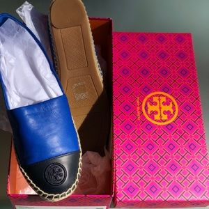 Tory Burch leather color block espadrilles. Bnib.